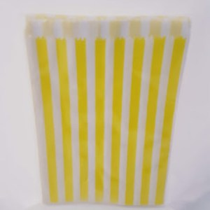 Yellow Stripe Paper Bags (20 pieces)