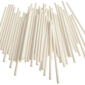 White Paper Cake Pop Sticks 10 cm (pack of 25)