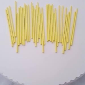 Yellow Paper Cake Pop Sticks 10 cm (pack of 35)
