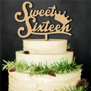 Sweet Sixteen Cake Topper