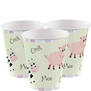 Farmyard Paper Cups (8 pieces)