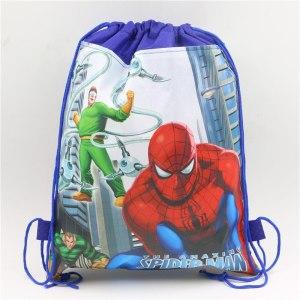 Spiderman blue Drawstring Bag