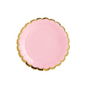 Pink Chic Plates 18 cm (6 pieces)