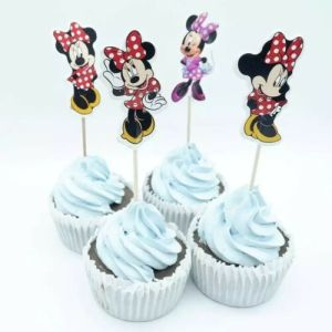 Minnie Mouse Cupcake Toppers (Pack of 24)