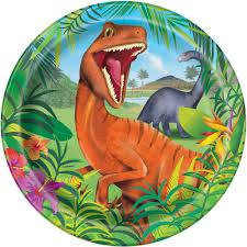 Dinosaurs Plates 23 cm (8 pieces)