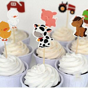 Farm Animal Cupcake Toppers (Pack of 24)