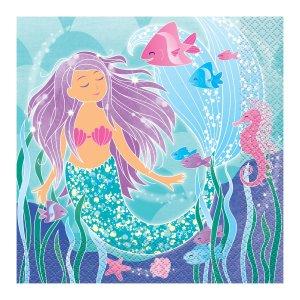 Mermaid Napkins (Pack of 16)