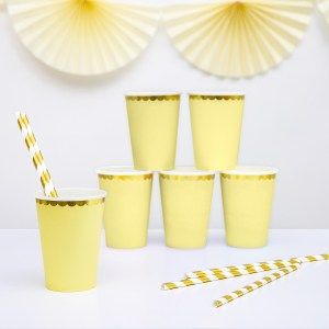 Yellow Chic Paper Cups (6 pieces)