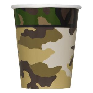 Military Paper Cups (8 pieces)