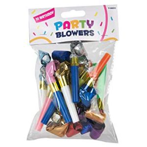 20 PARTY BLOWERS per pack