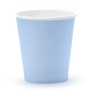 Blue paper Cups (6 pieces)