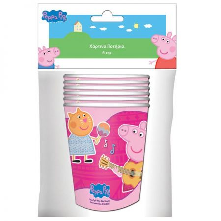 Peppa Pig Paper Cups 6 Pieces