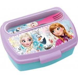 Frozen lunch box with spoon & fork