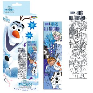 COLORING TOWER PUZZLE double sided- Olaf's Frozen Adventure