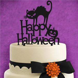 Happy Halloween Acrylic cake topper