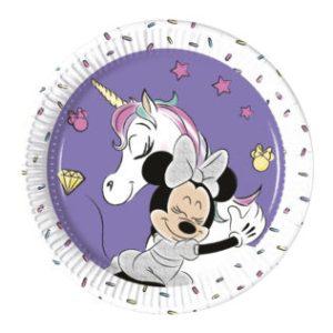 Minnie Unicorn Plates 20cm (8 pieces)