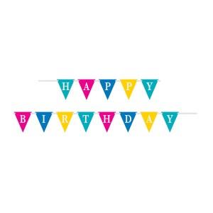 Confetti Happy Birthday Banner - 2.74m