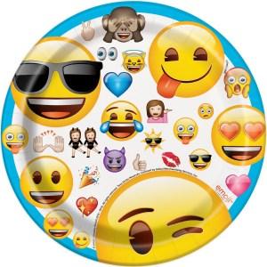 Emoji Plates 18cm (8 pieces)