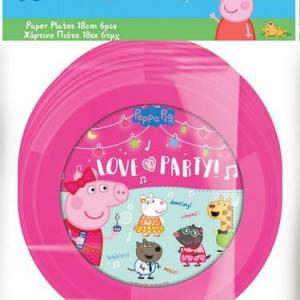 Peppa Pig Desert Plates 18cm (6 pieces)
