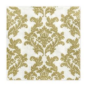 White/Gold Napkins (Pack of 20)