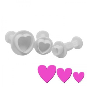 Hearts Plunger set of 3