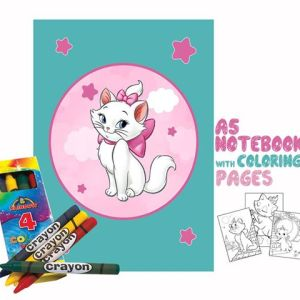 Kitty Coloring Book 14x20cm & Crayons Gift