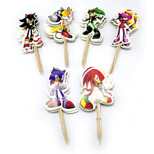 Sonic Cupcake Toppers (pack of 24)