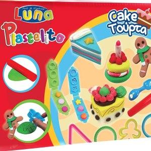 SOFT DOUGH CAKE 60gr Χ 3 Colors With 10 Tools LUNA