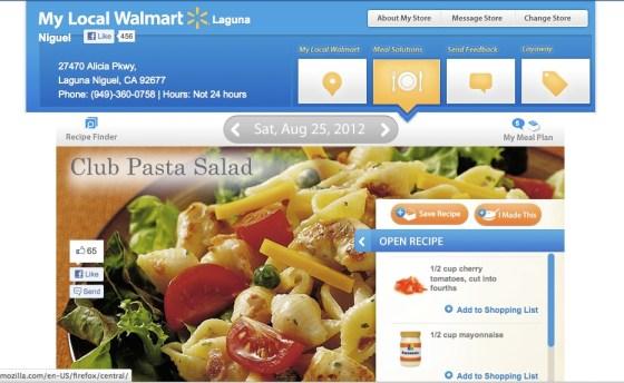 Walmart Meal Solutions App