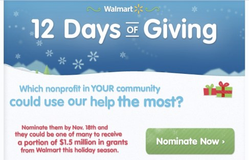 Walmart's 12 Days of Giving