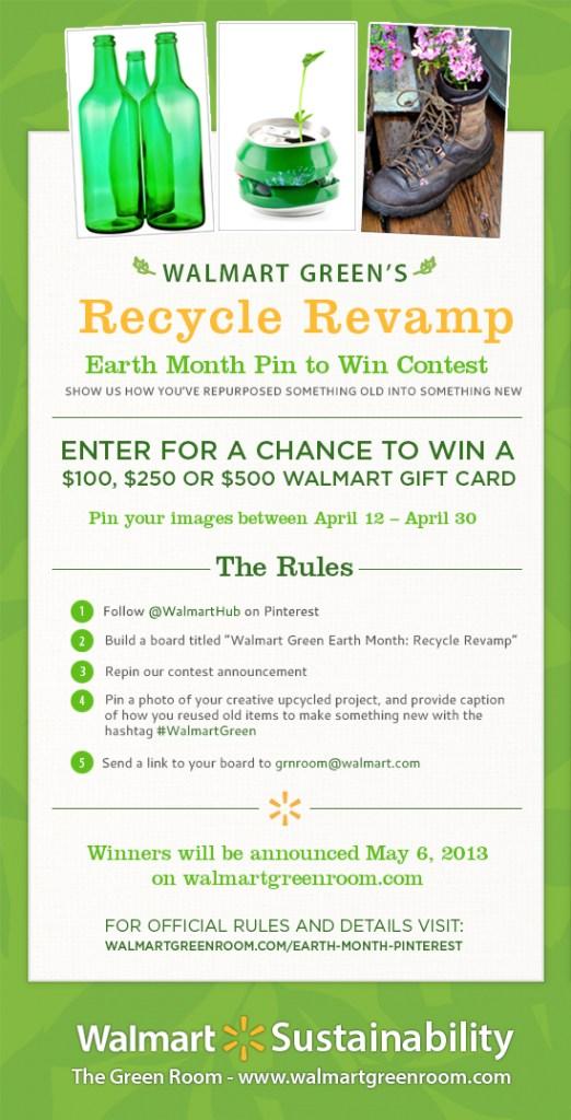 Walmart Pin it to Win it Earth Month