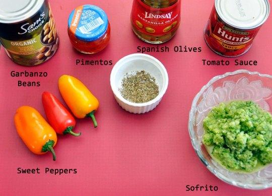 Pasteles Filling Ingredients