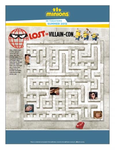 Minions Villain-Con Maze