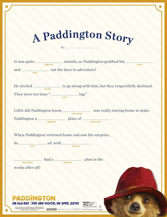 Paddington Printables