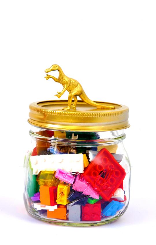 Dinosaur Mason Jars