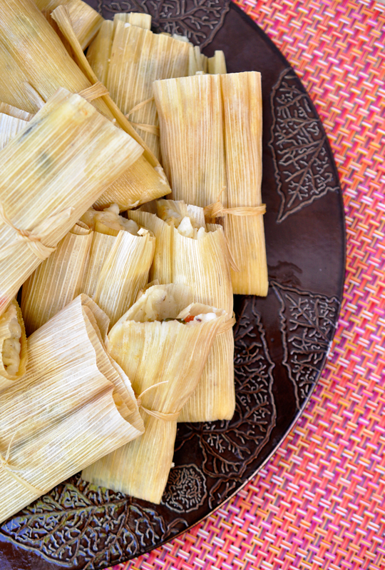 Homemade Spinach and Cheese Tamales