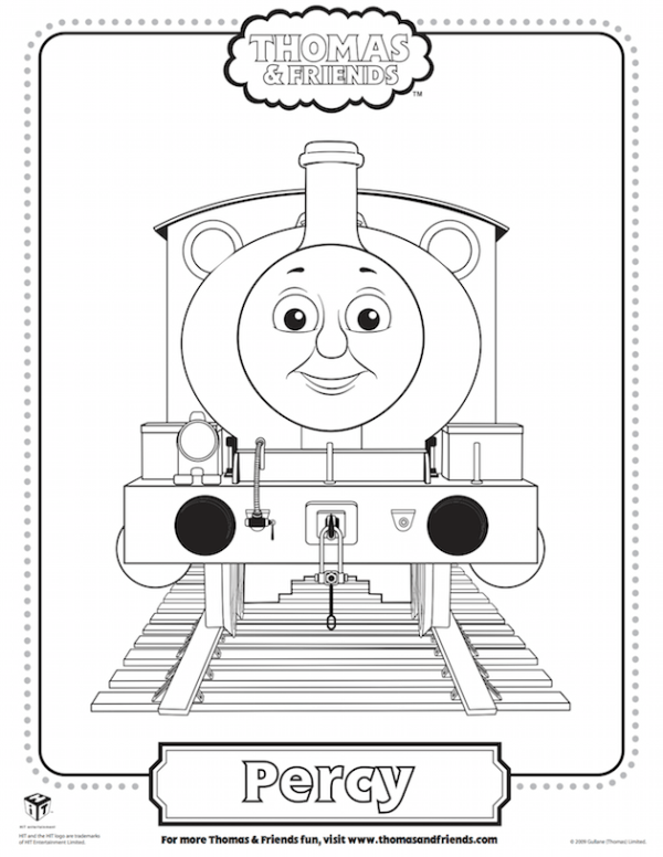 Percy Coloring Sheet - Thomas the Tank Engine