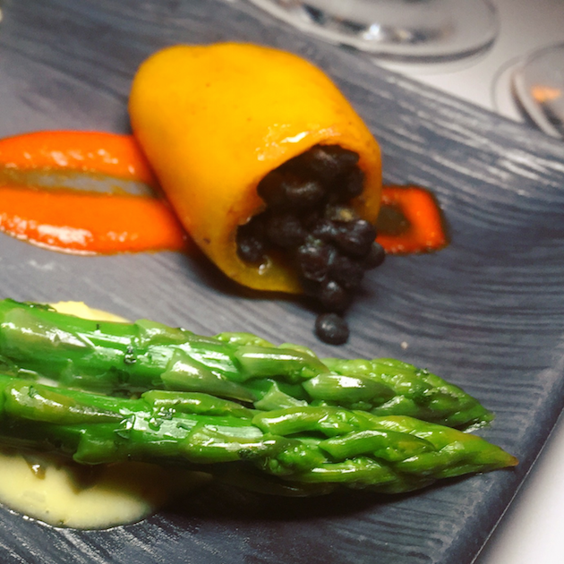 Stuffed Pepper and Asparagus
