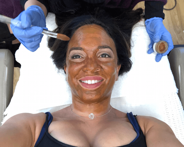 Applying Cosmelan Mask