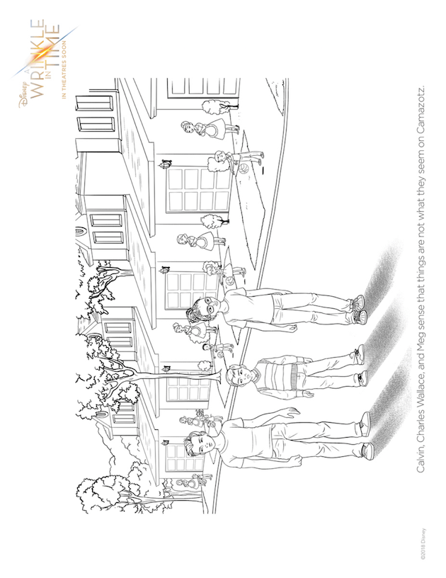 A Wrinkle In Time Printables, Coloring Pages, and Activity