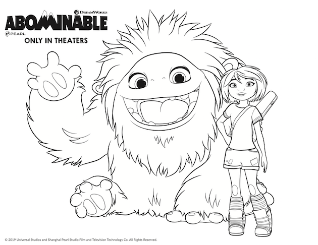 Abominable in 4DX Plus Printables and Everest Donuts