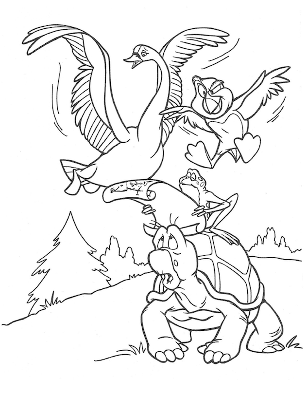 The Swan Princess Friends Coloring Sheet