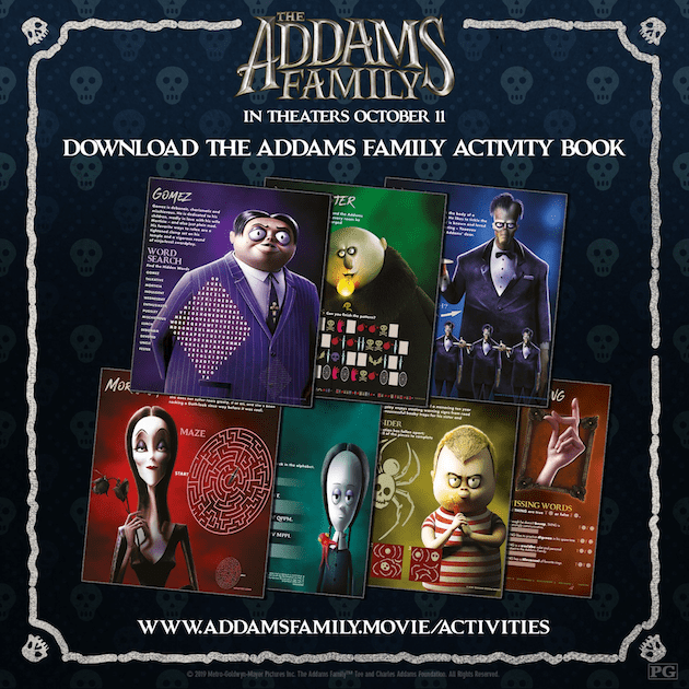 The Addams Family Movie Night And Printables