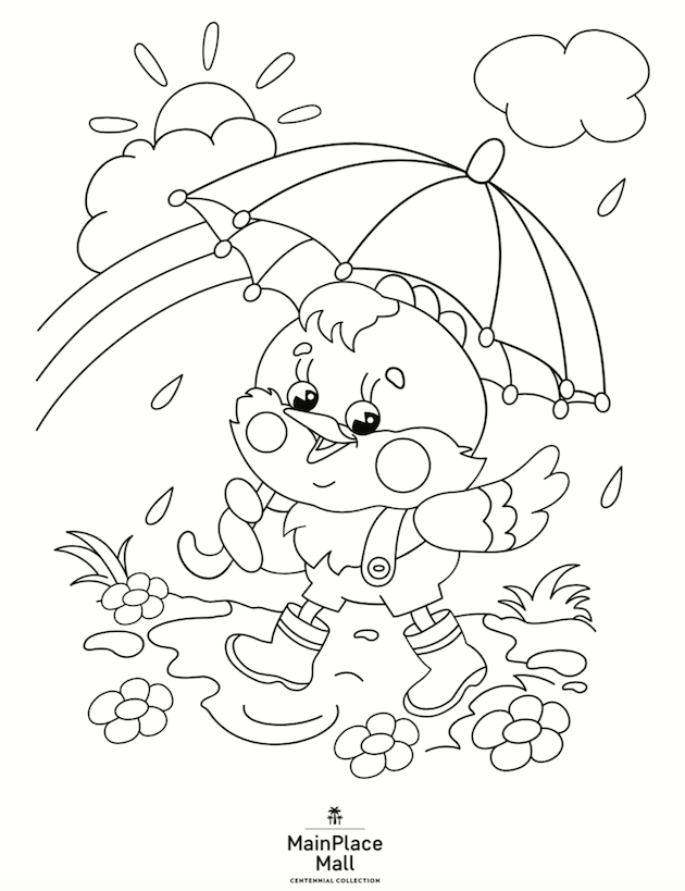 Springtime Coloring Sheet