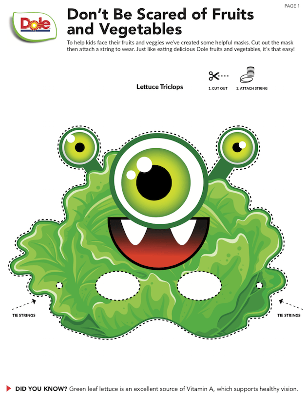 Pixar Monsters Printable Mask
