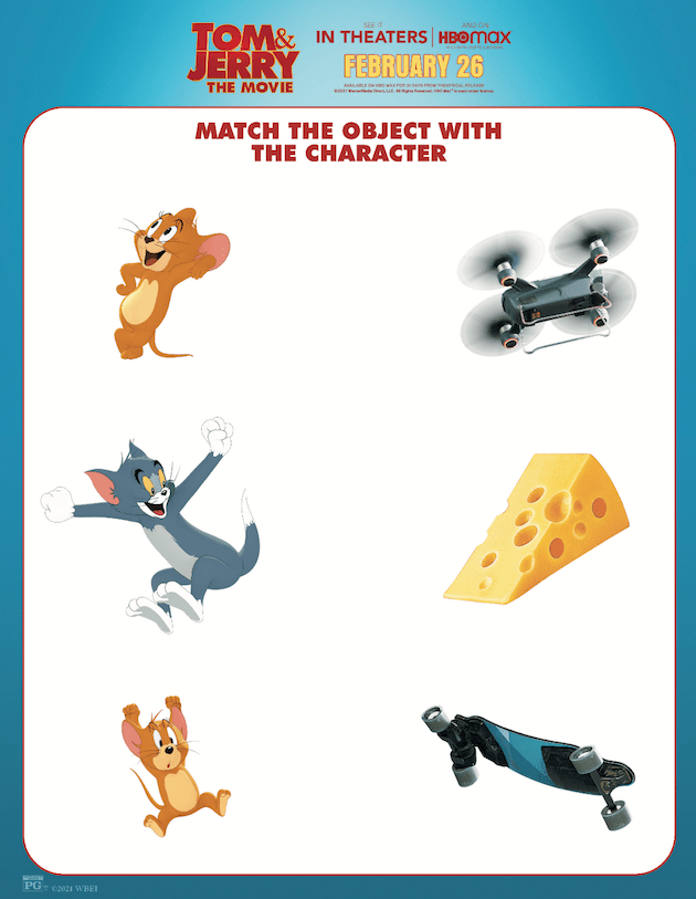 Tom and Jerry Matching Printable