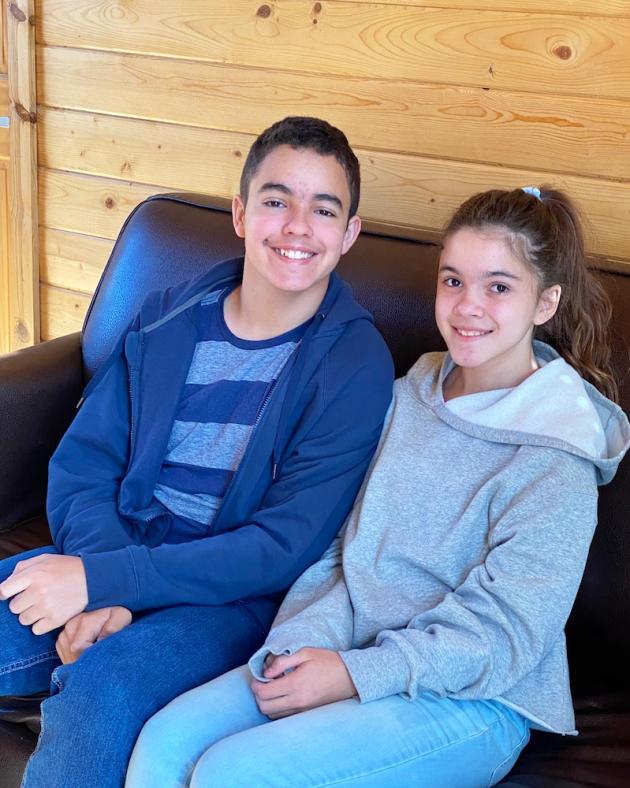 Siblings at Yosemite Lakes RV Resort