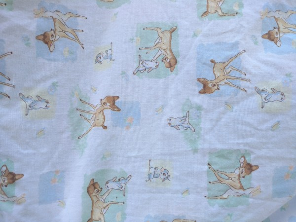 Disney Bambi Thumper Bed Sheet Comforter Quilted Crib Baby