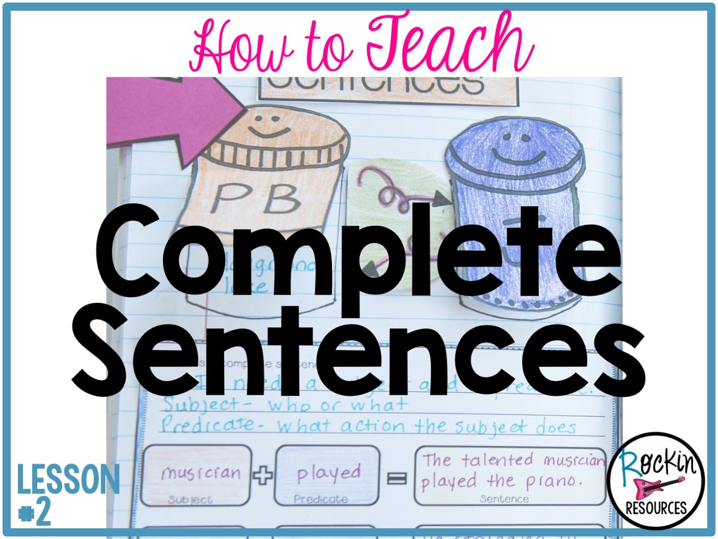 Writing Mini Lesson #2- Complete Sentences   Rockin Resources [ 1055 x 1406 Pixel ]