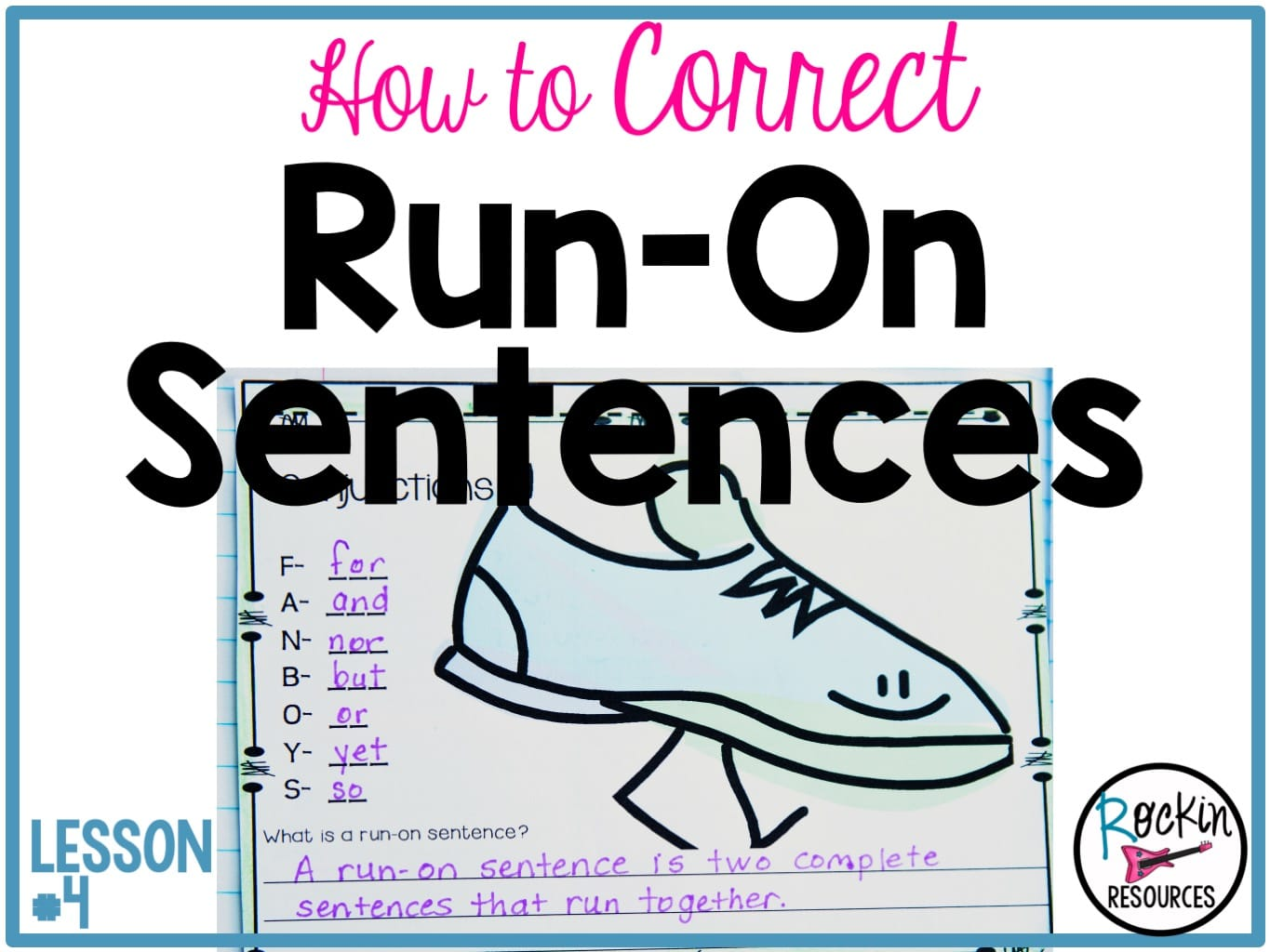 Writing Mini Lesson #4- Run-On Sentences   Rockin Resources [ 1024 x 1365 Pixel ]